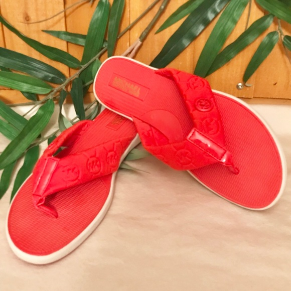 Michael Kors Shoes - Michael Kors Red Flip Flops
